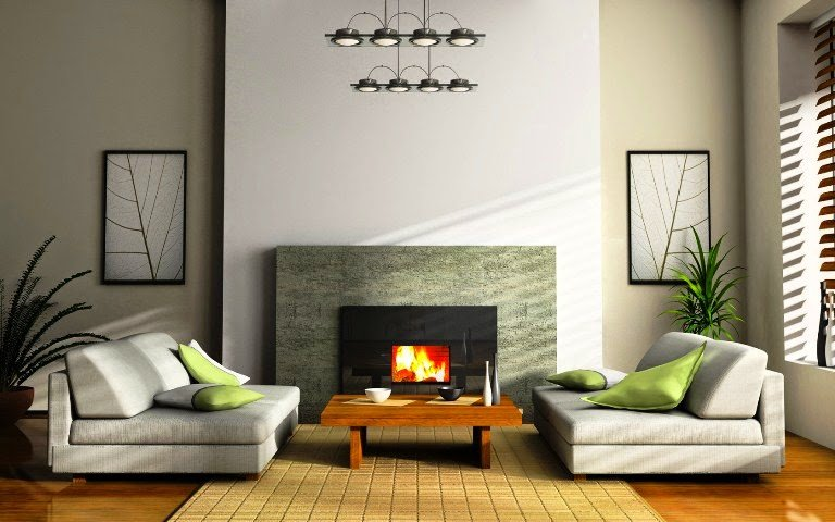 Wall painted above fireplace in soft white